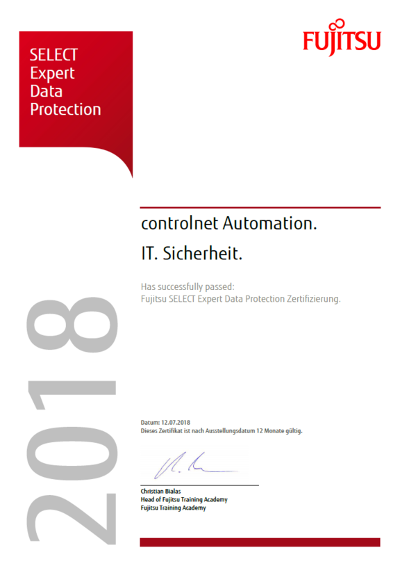 Fujitsu SELECT Expert Data Protection
